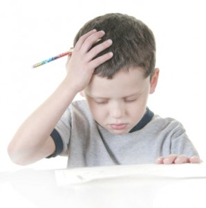picture of boy studying